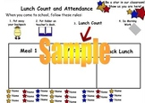 Mimio Star Attendance and Lunch Count Activity