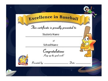 Star Award Certificates -Standard