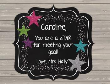 Star Awards {EDITABLE} Incentives - Goal Setting - Chalkbo