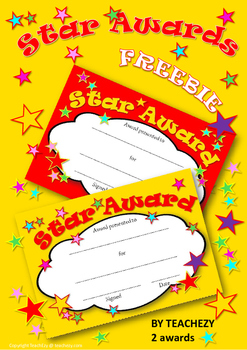 Star Awards Free Resource