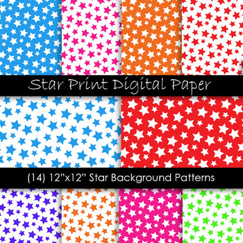 Star Backgrounds in Multi-Color - Star Patterns