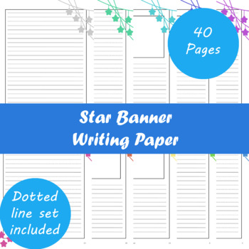 Star Banner Writing Paper