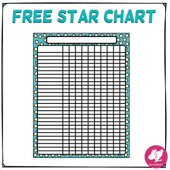 Freebie Star Chart Free Class Behavior Chart Record Keeping