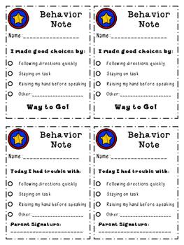 Star Behavior Notes