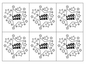 Star Behavior Pocket Chart Cards - B&W