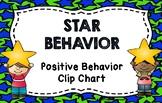 Star Behavior Positive Behavior Clip Chart and Notes