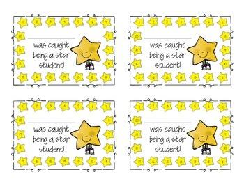 Star Behavior Punch Cards