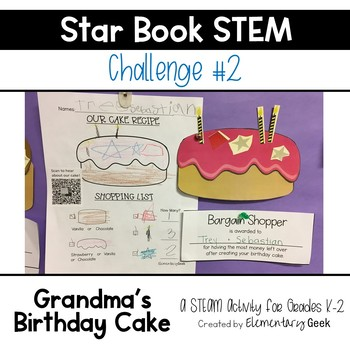 Star Book STEM Challege #2 - Bunny Cakes