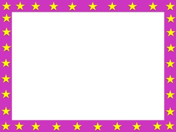 Star Border (Editable)