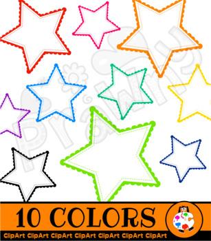 Star Border Sticker Clip Art