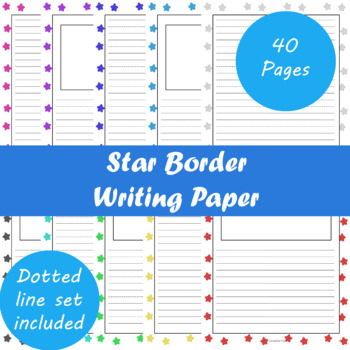 Star Border Writing Paper