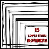 Blackline Borders - String Baby Collection