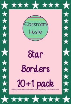 Star Borders/Frames 20 pack PLUS 1 extra!
