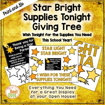 "Star Bright  ""Giving Tree""/ Wish List Donations"