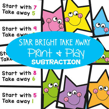 Subtraction Center {Star Bright Take Away} - Math Game