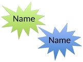 Star Burst Name Tags (Editable)