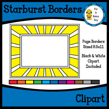 Star Burst Page Border Set