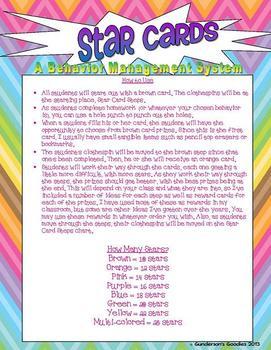 Star Cards - A Behavior Management System