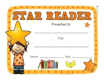 Star Certificates - Awards to Motivate and Highlight Students