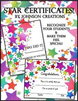 Star Certificates
