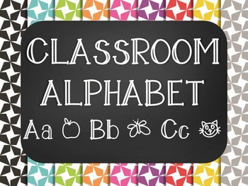 Star Chalkboard Classroom Alphabet ABC Posters