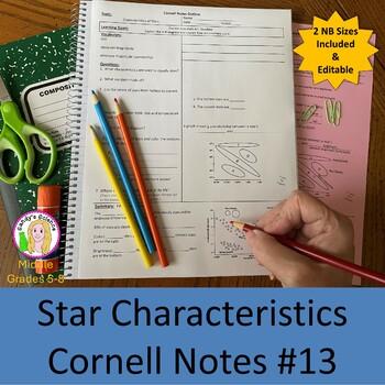 Star Characteristics Cornell Notes #13