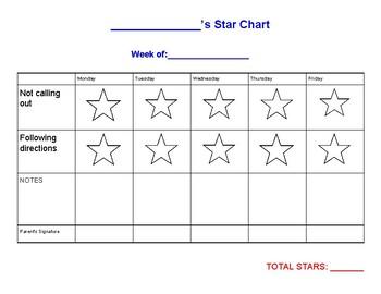 Star Chart (Behavior Tracker)