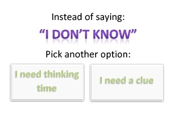 I don't know Option Prompts