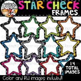 Star Check Frames Clipart  {TpT Sellers Clipart}