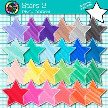 Star Clip Art {Behavior Chart, Reward Coupon, Classroom Management Use} 2