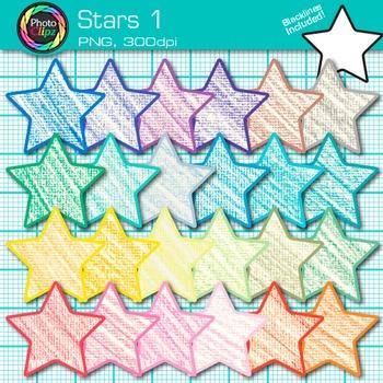 Star Clip Art {Behavior Chart, Reward Coupon, Classroom Ma