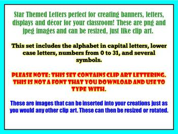 Star Clip Art Letters for Creating Banners, Bulletin Boards, Displays, Etc.