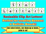 Star Clip Art Letters for Creating Banners, Bulletin Board