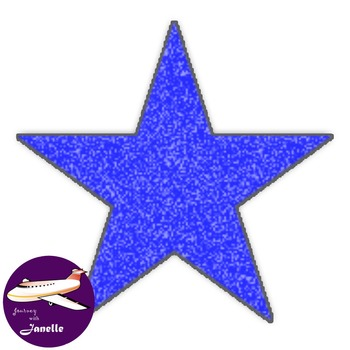 Star Clip Art in a Crayon Look