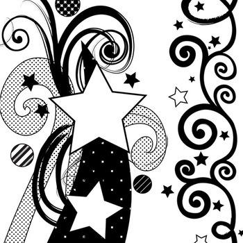 Star Border ClipArt Swirls and Flourishes, Graduation, Teen Celebrations