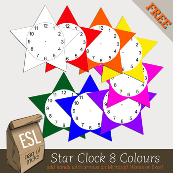 Star Clock Image in .png format for making worksheets