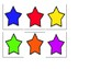 Star Themed Color Matching, Memory and Go Fish