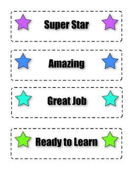 Star Conduct Chart