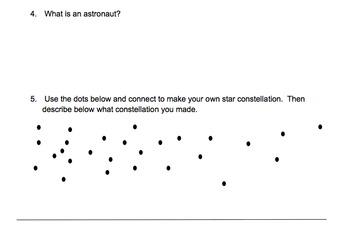 Star Constellations Worksheet Assessment