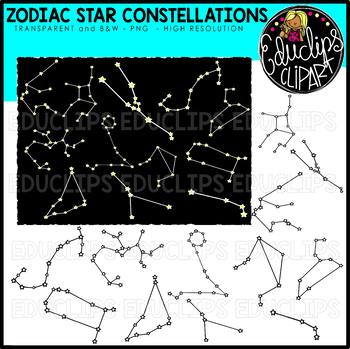 Star Constellations - Zodiac Clip Art Bundle {Educlips Clipart}