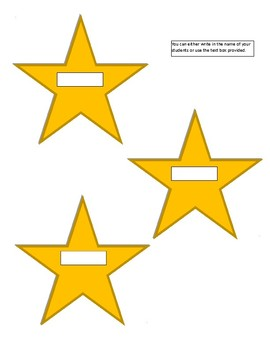 Star Cubby Tags for Preschool, K, and 1st Grade