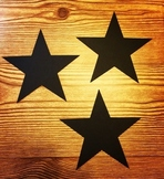 Star Cut Outs - Black (Overstock Sale) -25 per set