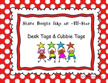 Star Desk & Cubbie Tags