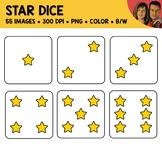 Star Dice Clipart