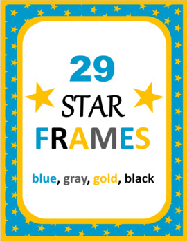 Star Digital Frames: blue, gold, gray, black