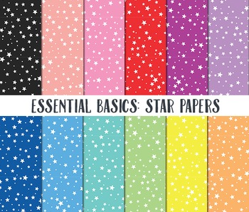 Star Digital Paper, Digital Paper Pack, Star background paper, Star Papers
