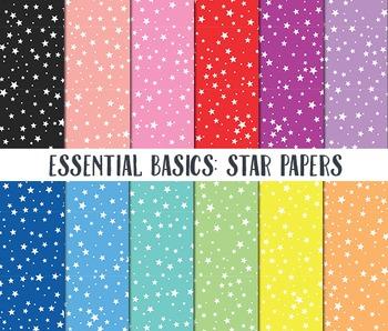 Star Digital Paper, Digital Paper Pack, Star background paper, Star Papers