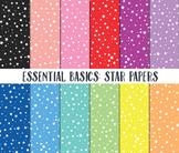 Star Digital Paper, Digital Paper Pack, Star background pa