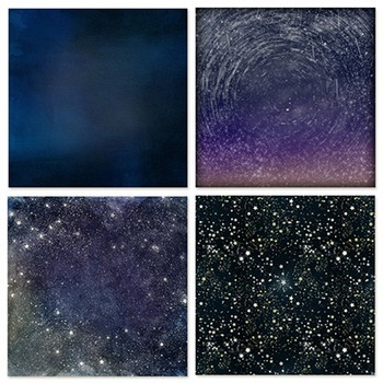 Outer Space, Star Digital Paper, Solar System, Night Sky, Astronomy, Galaxy
