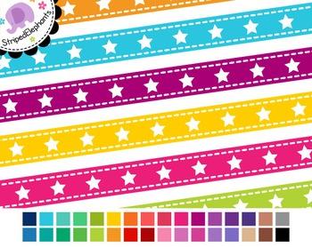 Star Digital Ribbon Borders 1